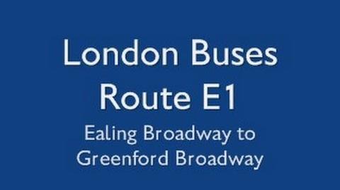 London Buses Route E1-0