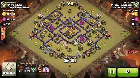 Clash of Clans TH8 vs TH8 Dragon & Balloon (Dragloon) Clan War 3 Star Attack
