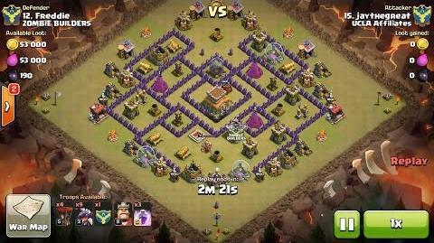 Clash of Clans TH8 vs TH8 Dragon & Balloon (Dragloon) Clan War 3 Star Attack