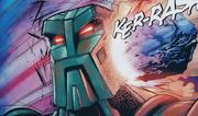 Comic Makuta Struck by Aqua Magna Fragment