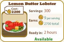 Lemon Butter Lobster