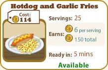 Hotdog and Garlic Fries