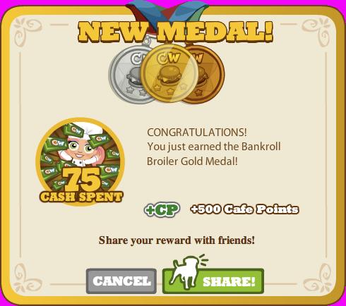 Bankroll Broiler Gold Medal