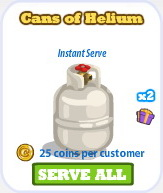 Cans of helium