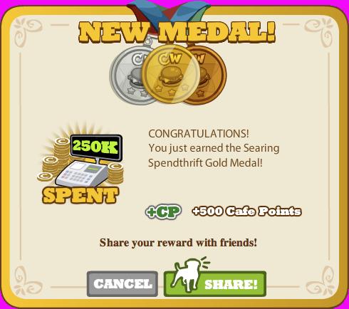 Searing Spendthrift Gold Medal