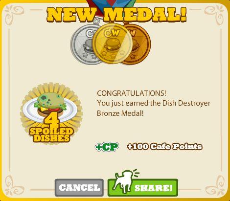 Dish Destroyer Bronze Medal