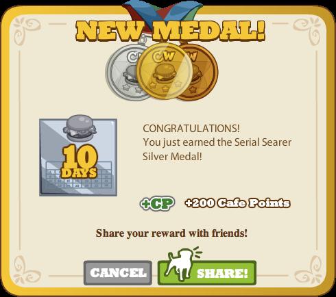 Serial Searer Silver Medal
