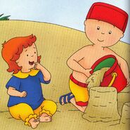 Caillou with Rosie at the Beach