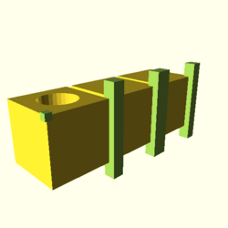 OpenSCAD linux ppc64 gallium-0.4-on hvub throwntogethertest-output render-tests-actual