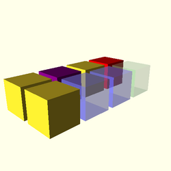 OpenSCAD win 586 ati-radeon-x300 hdrv opencsgtest-output color-tests-actual