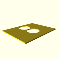 OpenSCAD linux i686 mesa-dri-r300 wicr opencsgtest-output polygon-holes-touch-actual