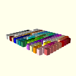 OpenSCAD linux i686 mesa-dri-r300 wicr regression opencsgtest testcolornames-expected