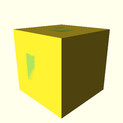 OpenSCAD linux i686 mesa-dri-intel(r) ggsw regression throwntogethertest example008-expected