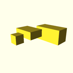 OpenSCAD linux ppc64 gallium-0.4-on hvub throwntogethertest-output cube-tests-actual