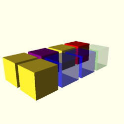 OpenSCAD mac 64-bit nvidia-geforce-gt cdiv tests regression opencsgtest color-tests-expected