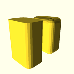 OpenSCAD linux i686 mesa-dri-r300 wicr regression opencsgtest example022-expected
