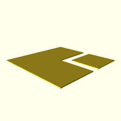 OpenSCAD linux ppc64 gallium-0.4-on hvub throwntogethertest-output polygons-actual