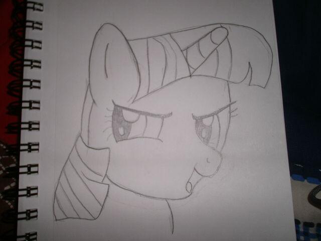 File:Twilight Sparkle Hand Drawn No Color.JPG