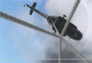 Entering the helicopter