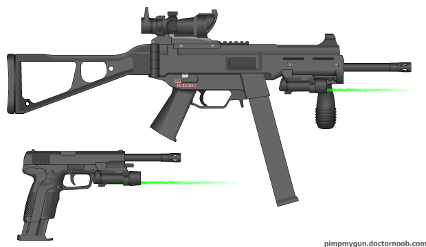 File:UMP.45 Custom and Custom 10mm Pistol.jpg