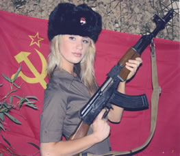 Girls and Guns Russian Hat