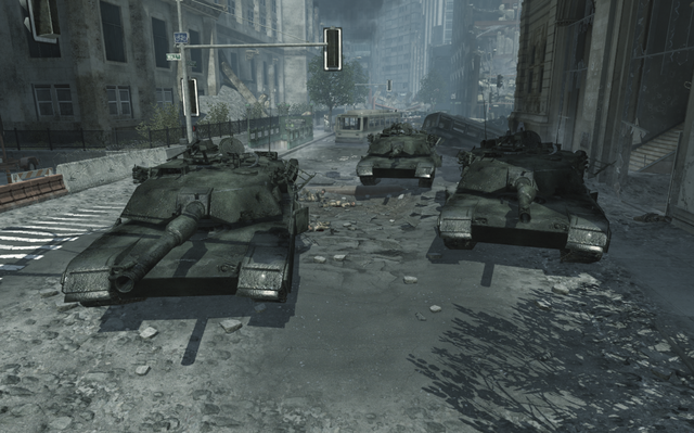 File:Destroyed Abrams tanks MW3.png