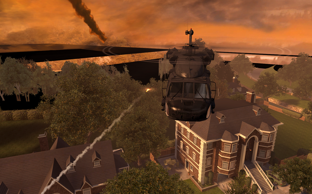 File:UH-60 about to get hit by RPG-7 missile Exodus MW2.png