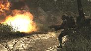 Flamethrower being used WaW