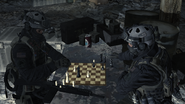 Shadow Company soldiers playing chess Just Like Old Times MW2