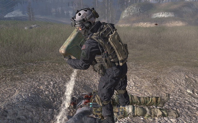 File:Shadow Company member pouring gas on Roach and Ghost.png