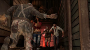 Juggernog behind the zombies cast Buried BOII
