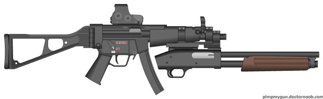 File:PMG Mp5 with shotgun and Holo sight.jpg