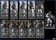 Russian Arctic troop models MW3