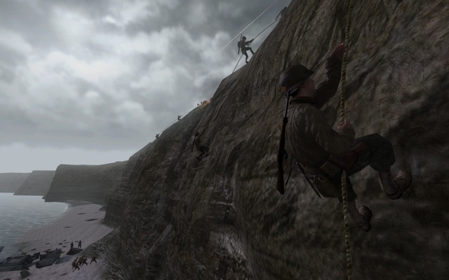 File:Rangers climbing a cliff CoD2.png