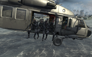 U.S. Navy SEALs in Blackhawk Over Reactor MW3