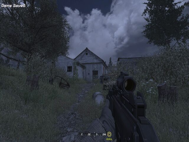 File:Heading up to shed Hunted CoD4.jpg
