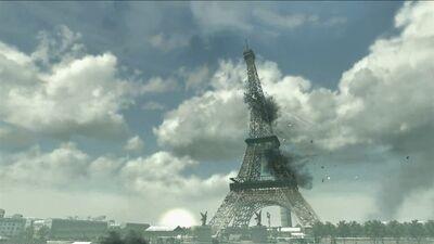 Eiffel Tower under attack Iron Lady MW3