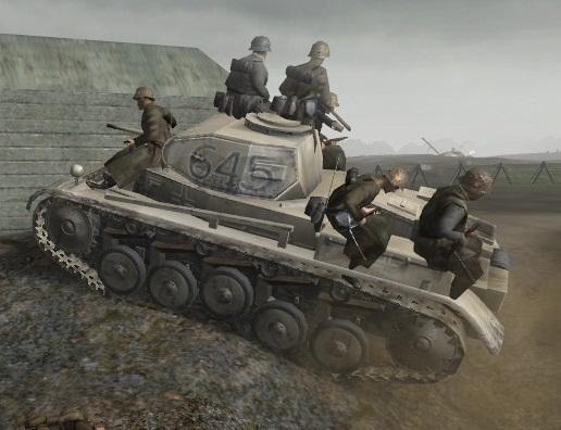 File:German soldiers on Panzer II CoD2.jpg