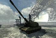 2S19 Msta under the Eiffel Tower Iron Lady MW3