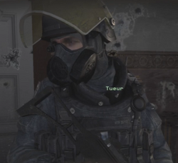Tueur gas mask