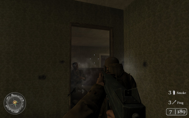 File:Engaging enemy behind table Approaching HIll 400 CoD2.png