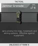 Jammer Grenade Unlock Card IW