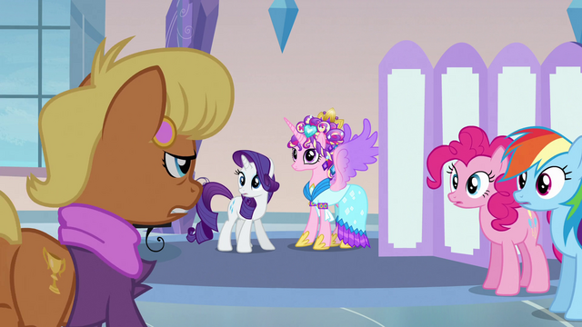 File:Ms Harshwinny talking to Princess Cadance S3E12.png