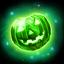 Green pumpkin gem