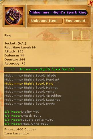 Midsummer Night's Spark Ring