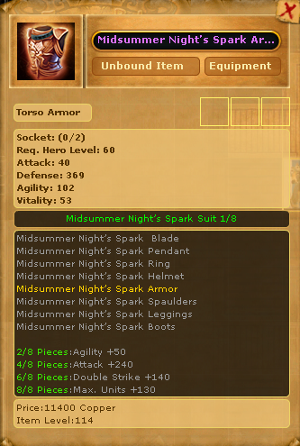 Midsummer Night's Spark Armor