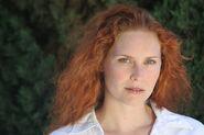 -Woman redhead natural portrait