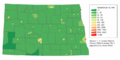 North Dakota population map.png