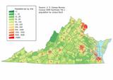 Virginia population map