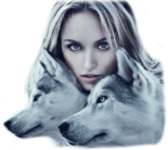 Girl with wolves 1